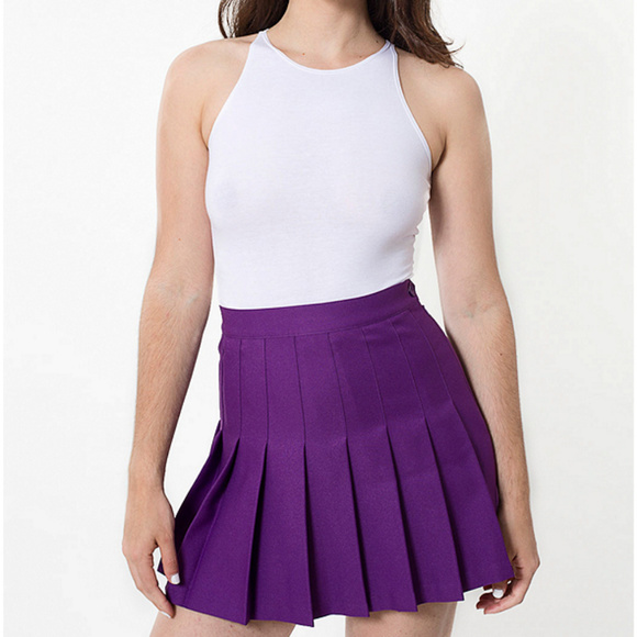 6e7f25b29e American Apparel Dresses & Skirts - American Apparel Purple Pleated Tennis  Skirt